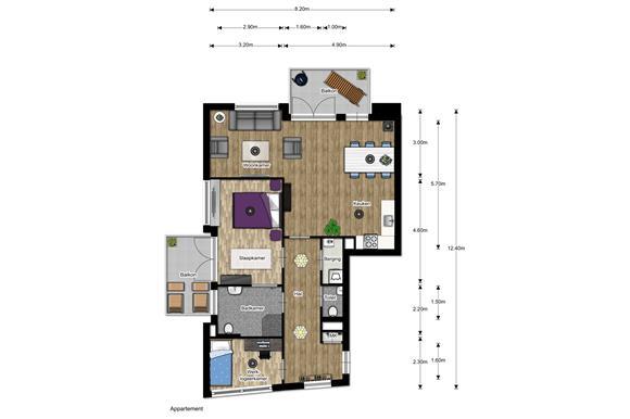 Stelpost Keuken Nieuwbouw : Appartement te koop: Bouwnummer (Bouwnr. 7) 3853 NC Ermelo [funda]