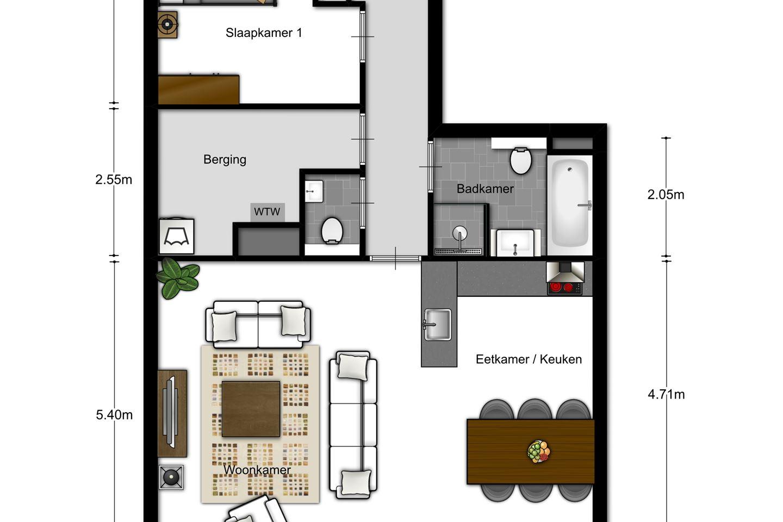 Verkocht: 705 | 7 | 2-kamer appartement | Meerzicht (Bouwnr. 705 ...