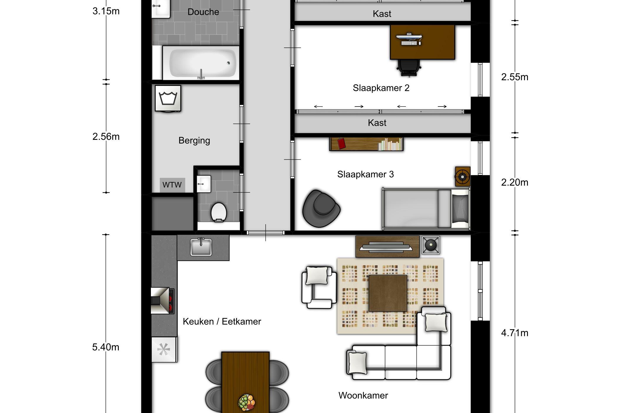Appartement te koop: 206 | 2 | 4-kamer appartement | Meerzicht ...