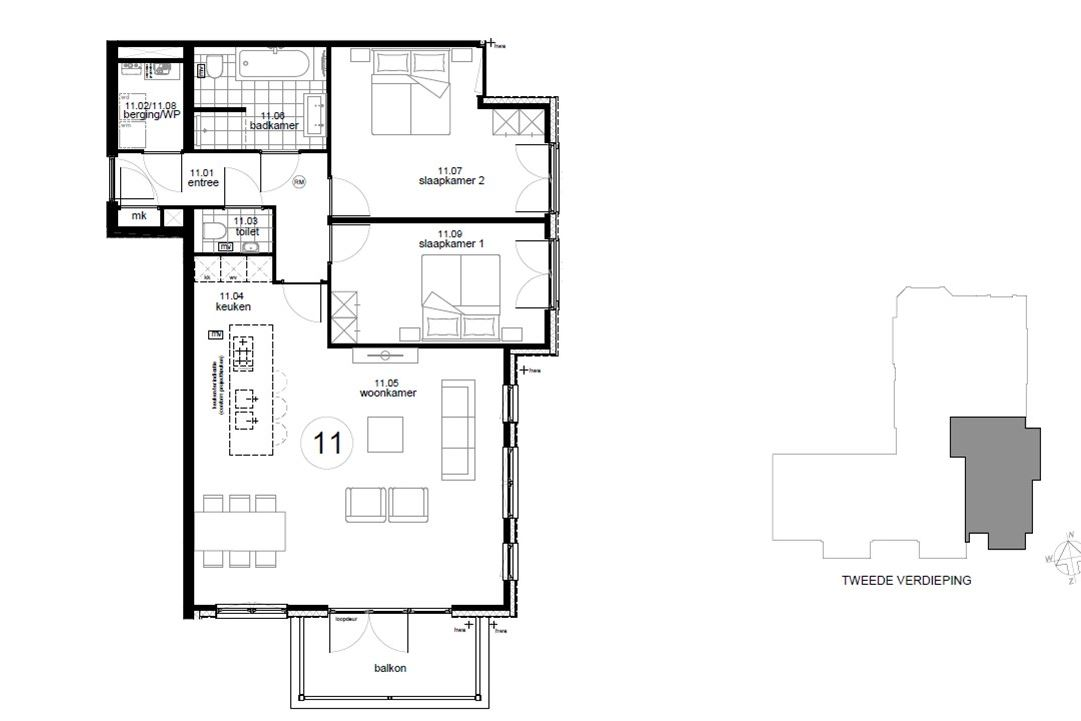Appartement te koop: Bouwnummer 11 (Bouwnr. 11) 1217 SM Hilversum ...