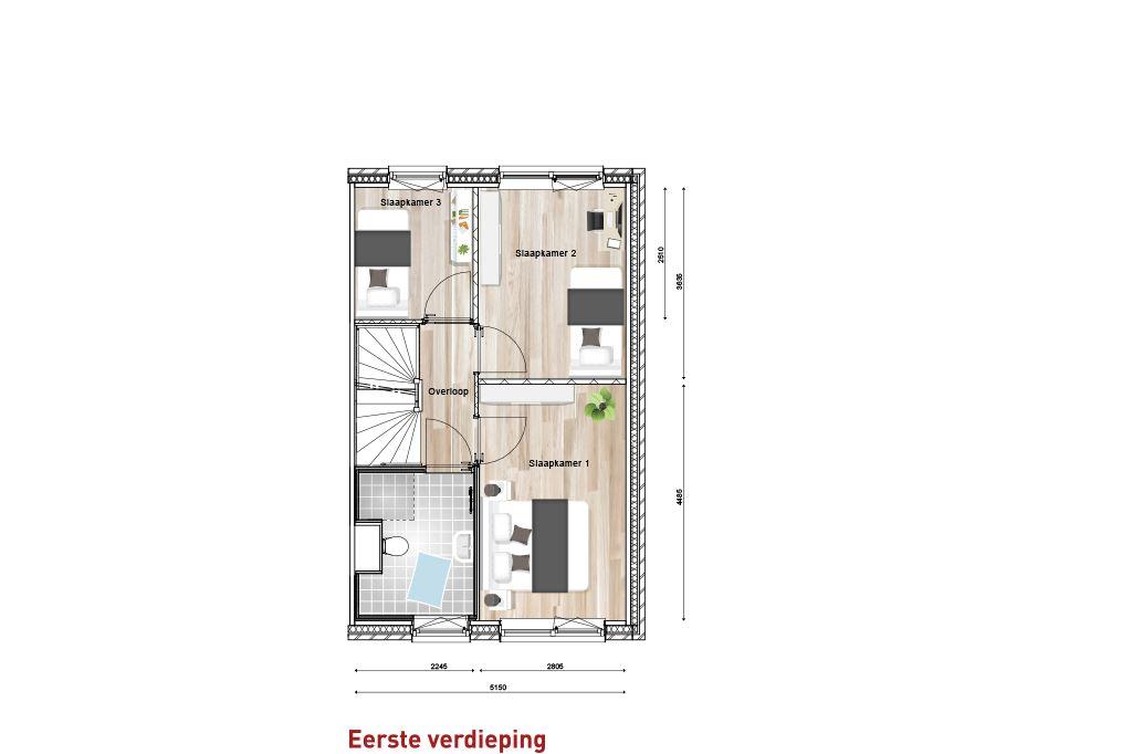 Bekijk foto 3 van Nieuw Sintmapark - tussenwoning - bnr. 2 (Bouwnr. 2)