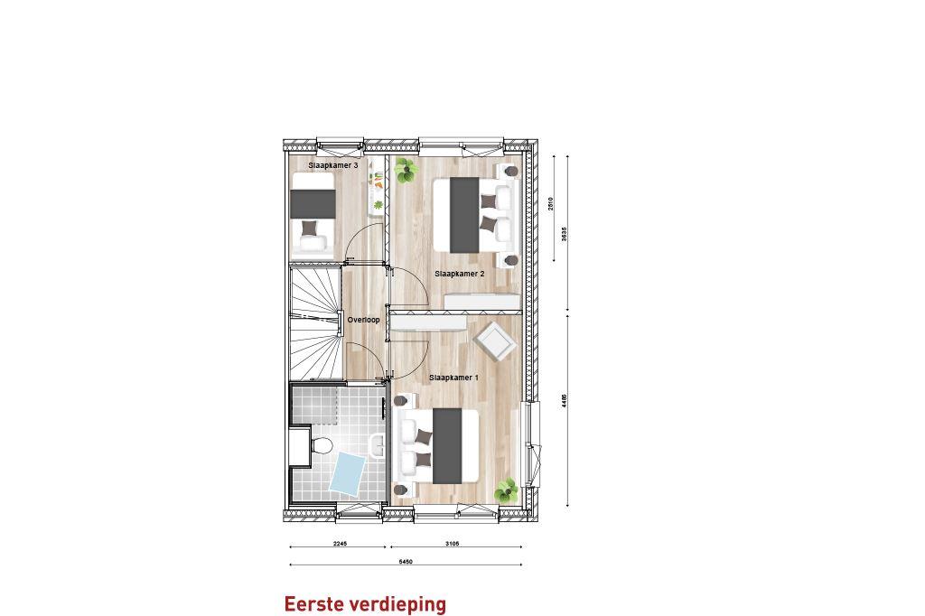 Bekijk foto 3 van Nieuw Sintmapark - hoekwoning - bnr. 1 (Bouwnr. 1)