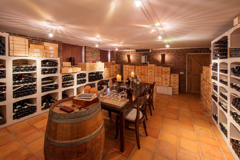 De belangrijkste kamer van het huis: de wijnkelder