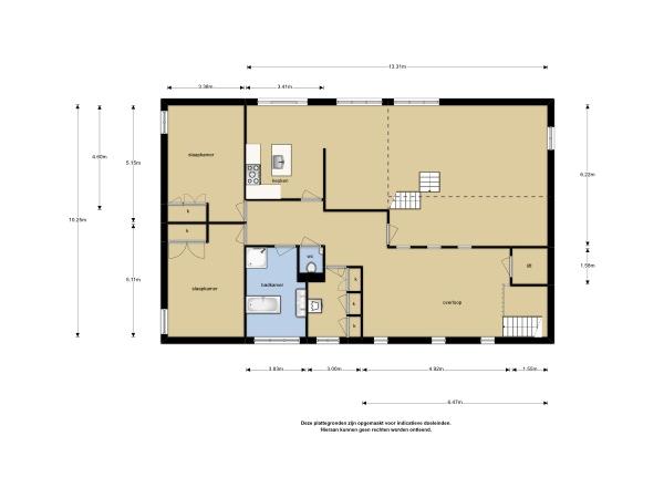 Plattegrond van 1e verdieping