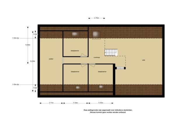 Plattegrond van 2e verdieping