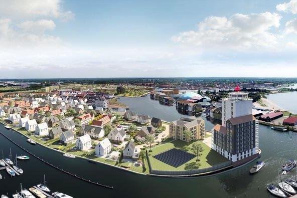 Bekijk foto 1 van Waterfront, 11 kavels Noordereiland (Bouwnr. Q)