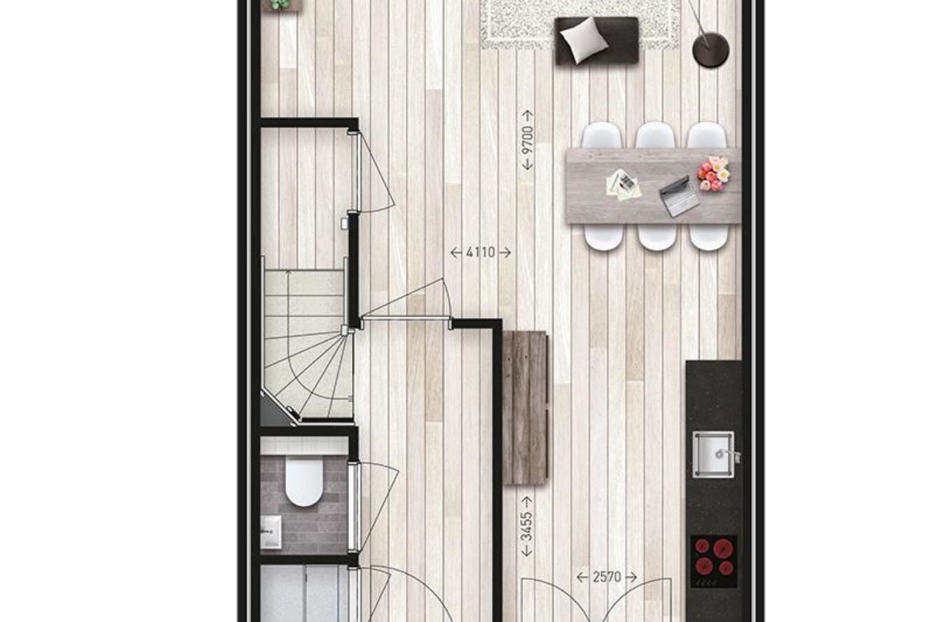 View photo 5 of Tussenwoning typ L2 (Bouwnr. 2)