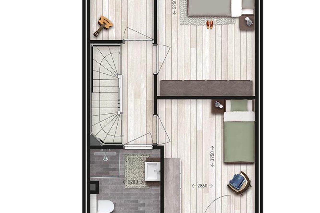 Bekijk foto 6 van Tussenwoning type M2 (Bouwnr. 6)