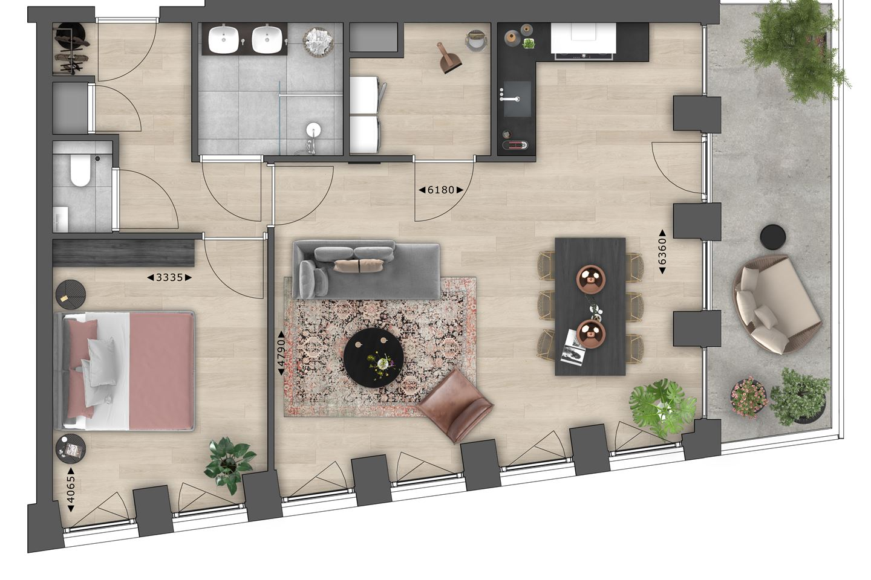 Bekijk foto 6 van 9.06 | 9e Verdieping | Next (Bouwnr. 906)