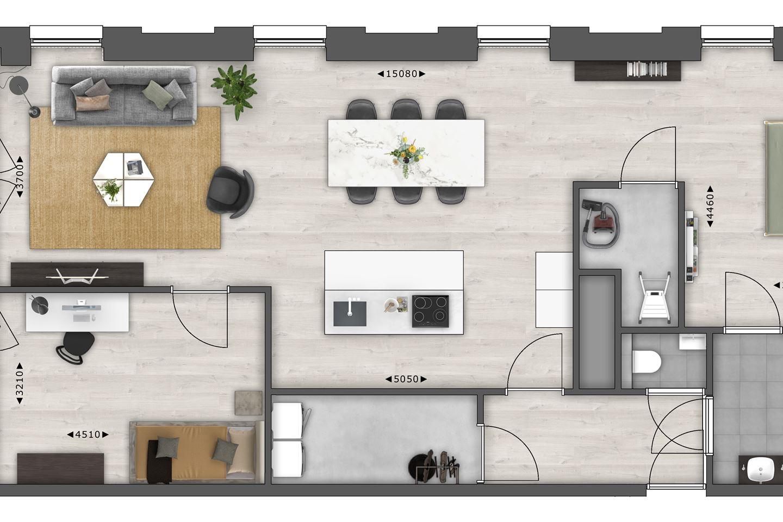 Bekijk foto 6 van 12.06 | 12e Verdieping | next (Bouwnr. 1206)