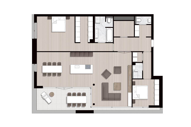 Bekijk foto 4 van Ravel - Appartementen (Bouwnr. 1)