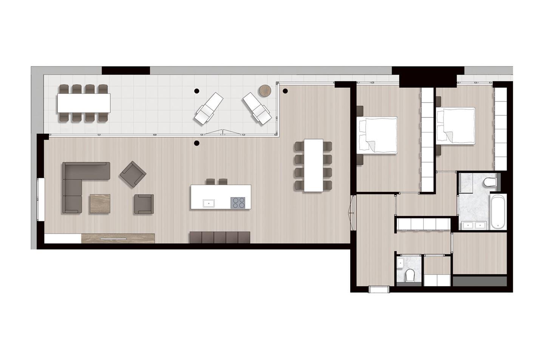 Bekijk foto 3 van Ravel - Appartementen (Bouwnr. 2)