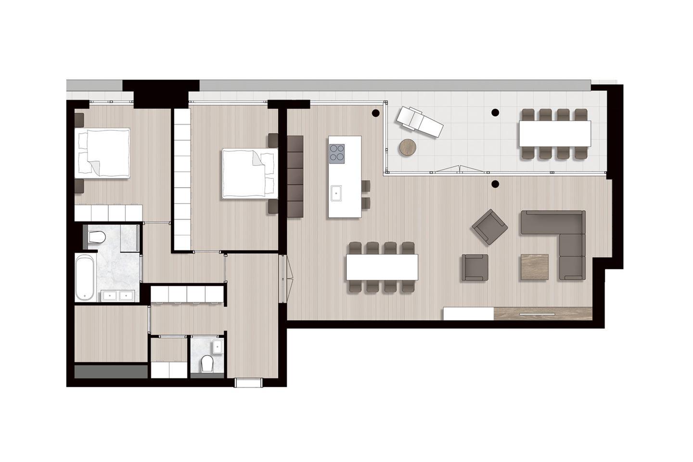 Bekijk foto 4 van Ravel - Appartementen (Bouwnr. 5)