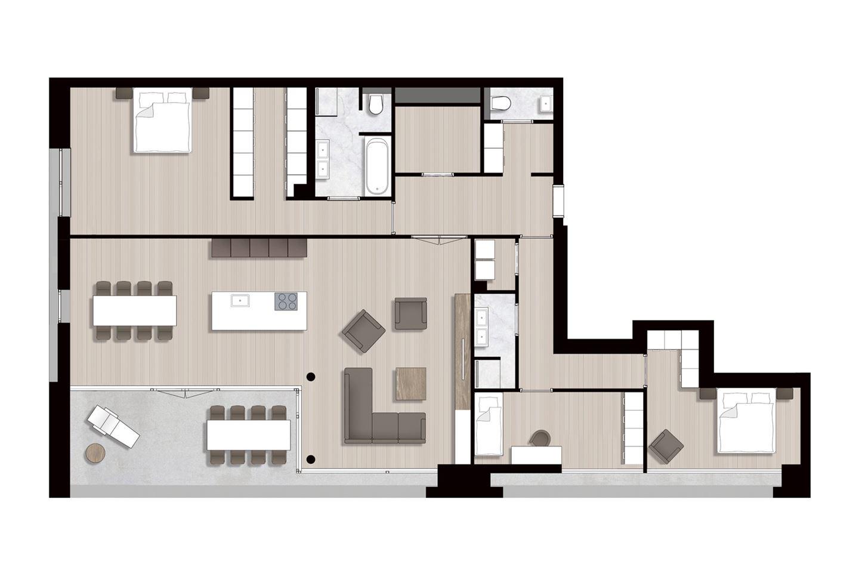 Bekijk foto 5 van Ravel - Appartementen (Bouwnr. 13)