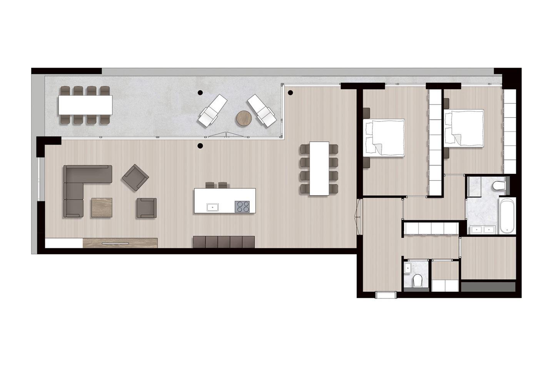Bekijk foto 5 van Ravel - Appartementen (Bouwnr. 14)