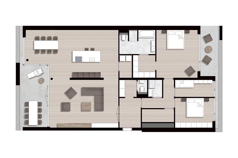 Bekijk foto 5 van Ravel - Appartementen (Bouwnr. 9)