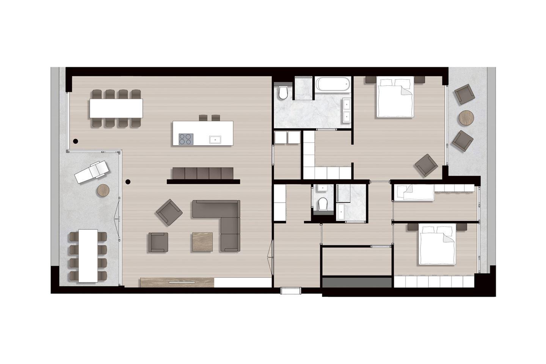 Bekijk foto 4 van Ravel - Appartementen (Bouwnr. 15)