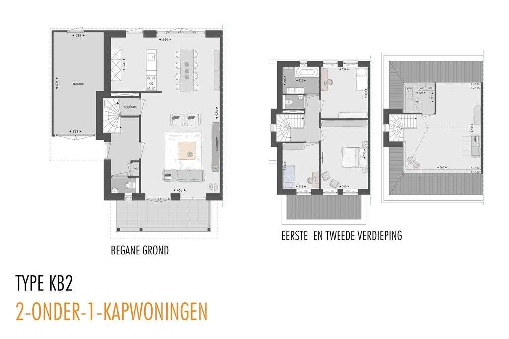 Bekijk foto 4 van Willemsbuiten buurtje 5A 2-onder-1-kap KB2- (Bouwnr. 253)