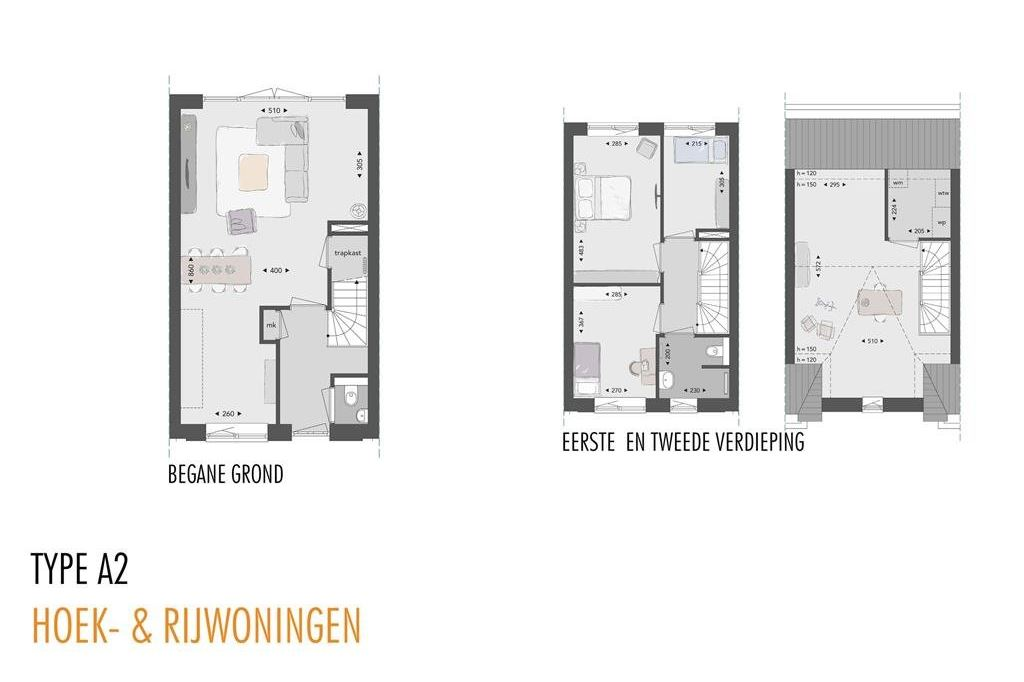 View photo 4 of Willemsbuiten buurtje 5A Rijwoning A2-A2sp (Bouwnr. 205)