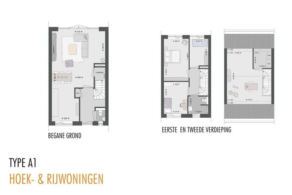 Bekijk foto 6 van Willemsbuiten buurtje 5A Rijwoning A1-A1sp (Bouwnr. 237)