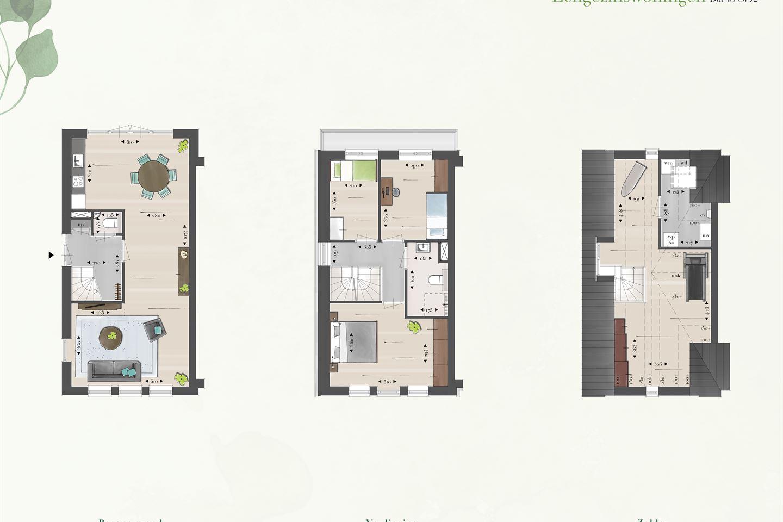 Bekijk foto 4 van Eengezins hoekwoningen (Bouwnr. 61)