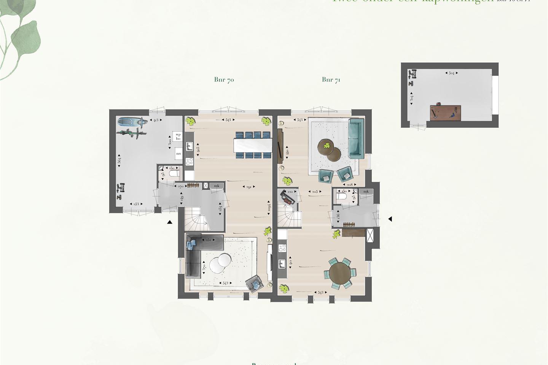 Bekijk foto 3 van Twee-onder-een-kapwoningen (Bouwnr. 70)
