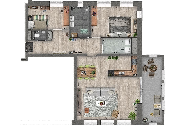 Bekijk foto 6 van Appartement begane grond aan het water (Bouwnr. 2)