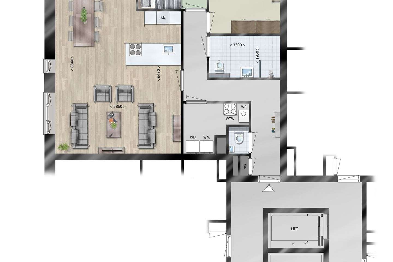 Bekijk foto 5 van Appartement, type Hulst (Bouwnr. 5)