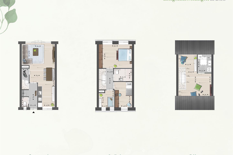 Bekijk foto 4 van Eengezins tussenwoningen (Bouwnr. 65)