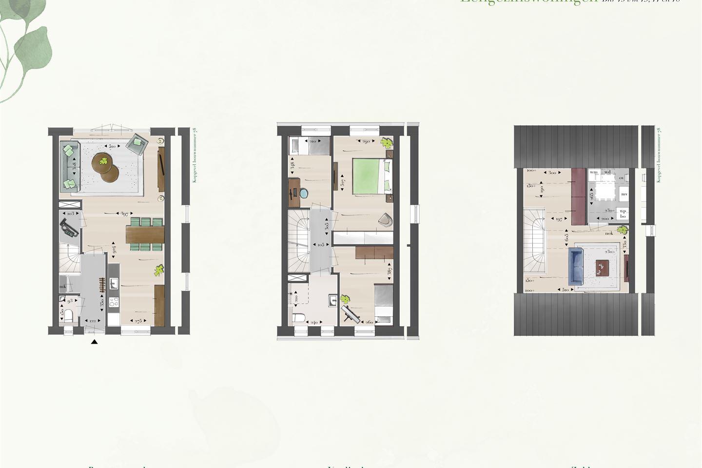 Bekijk foto 4 van Eengezins hoekwoningen (Bouwnr. 78)