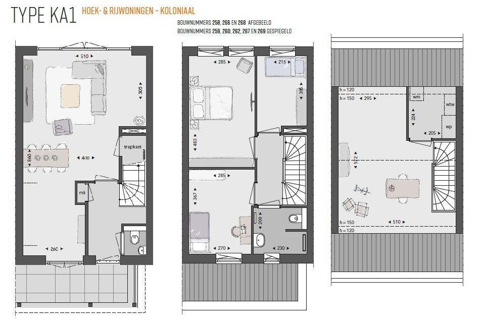 Bekijk foto 5 van Willemsbuiten buurtje 5B Rijwoning koloniaa (Bouwnr. 266)