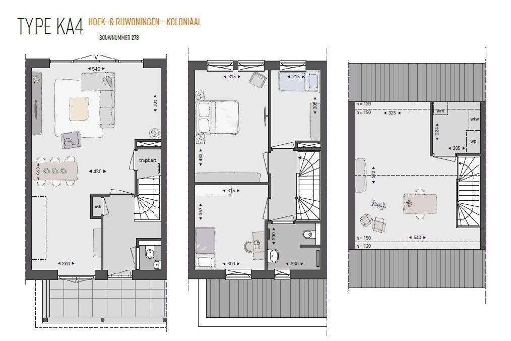 Bekijk foto 6 van Willemsbuiten buurtje 5B Rijwoning koloniaa (Bouwnr. 266)