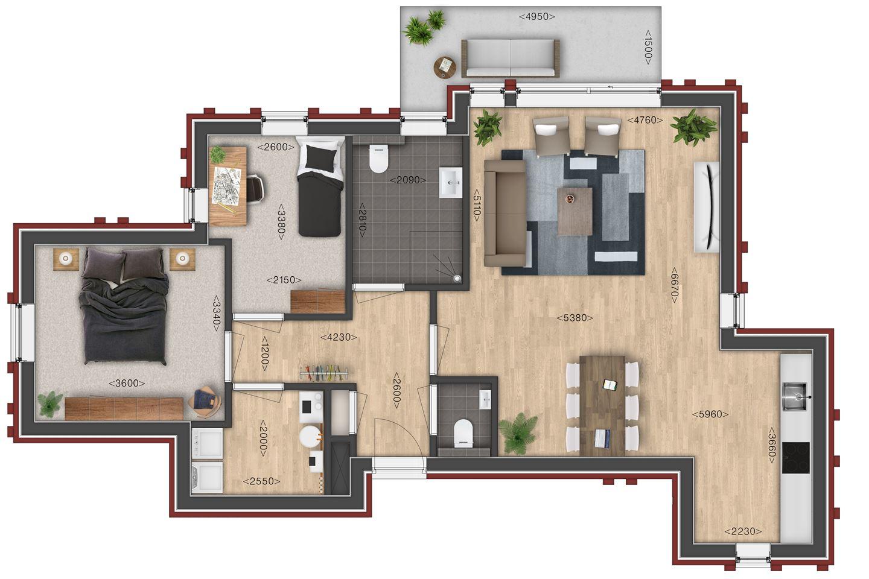 Bekijk foto 3 van Villa de Meeden, appartement 4 (Bouwnr. 4)