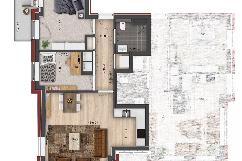 Bekijk foto 4 van Villa de Meeden, appartement 4 (Bouwnr. 4)