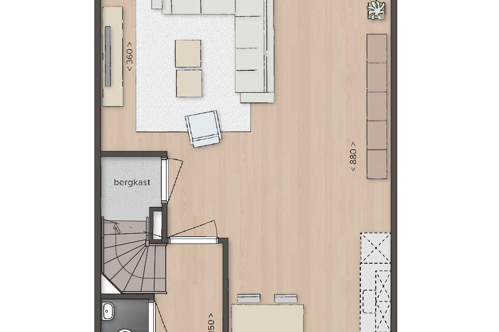 Bekijk foto 3 van Tussenwoning, type E, mansardekap (Bouwnr. 14)