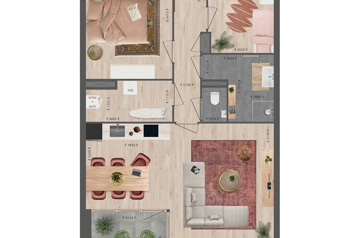 tussenappartement met balkon (Bouwnr. 135)