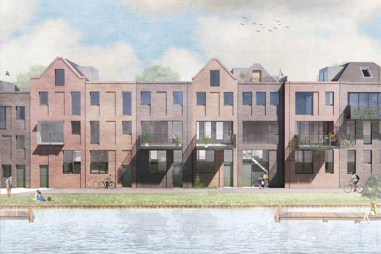 Bekijk foto 1 van CPO Sluiseiland | Herenhuis aan het water (Bouwnr. 7)
