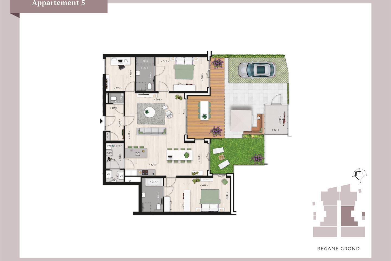 Bekijk foto 3 van Villa Mosa appartement begane grond (Bouwnr. 5)
