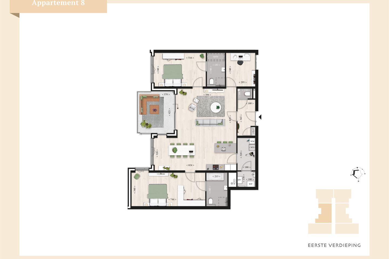 Bekijk foto 3 van Villa Mosa appartement 1e verdieping (Bouwnr. 8)