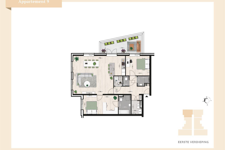 Bekijk foto 3 van Villa Mosa appartement 1e verdieping (Bouwnr. 9)
