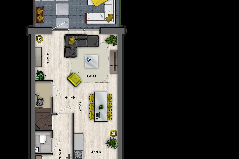 Bekijk foto 3 van Tussenwoningen type B (Bouwnr. 13)