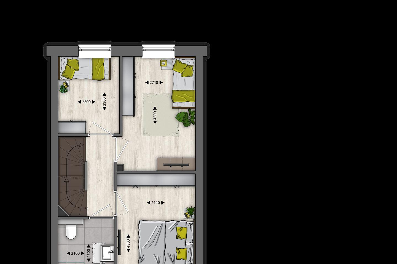 Bekijk foto 4 van Tussenwoningen type B (Bouwnr. 13)