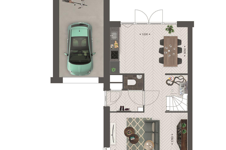 Bekijk foto 4 van Tweekapper met garage type C1, C2, C3 (Bouwnr. 113)