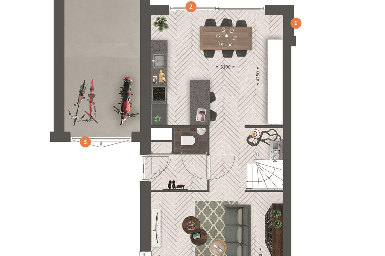 Bekijk foto 5 van Tweekapper met garage type C1, C2, C3 (Bouwnr. 113)