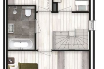 Bekijk foto 4 van 6 twee-onder-één-kap woningen (Bouwnr. 3)