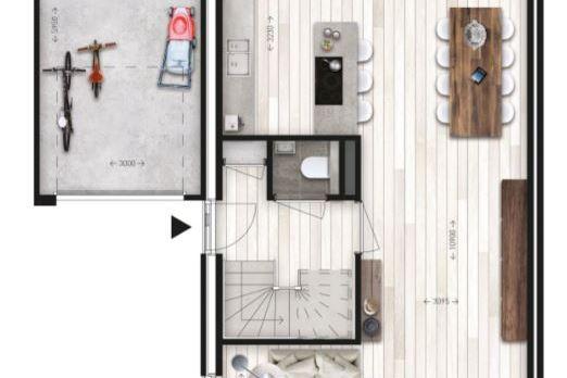 Bekijk foto 3 van 6 twee-onder-één-kap woningen (Bouwnr. 6)