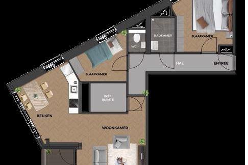 Bekijk foto 4 van 11|Centrumappartement|type A|De Smidse (Bouwnr. 11)