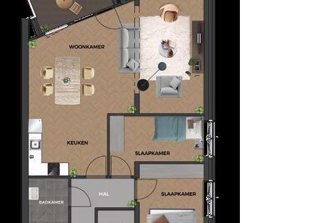 Bekijk foto 3 van 15|Centrumappartement|type C|De Smidse (Bouwnr. 15)