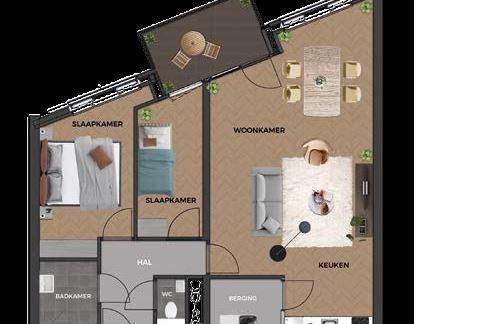 Bekijk foto 3 van 10|Centrumappartement|type D|De Smidse (Bouwnr. 10)