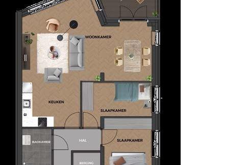 Bekijk foto 3 van 21|Centrumappartement|type E| De Smidse (Bouwnr. 21)